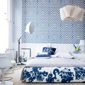blue eclectic bedroom 290x290 Эклектика в вашем интерьере