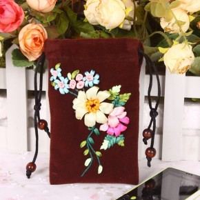 Flower Silk Ribbon Embroidery DIY Unique font b Craft b font Gift Home Textile font b 290x290 Рукоделие для дома