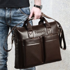 Fashion Men s Genuine leather 14 laptop font b bag b font Briefcase font b Successful 290x290 Мода