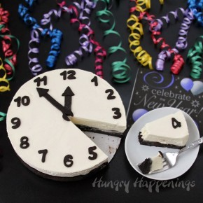 New years eve food cheesecake clock recipe  290x290 Кулинария